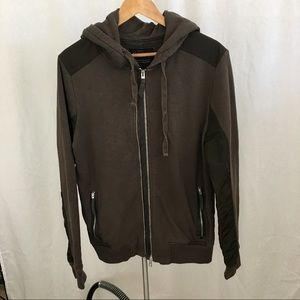 All Saints zip up hoodie two toned size L